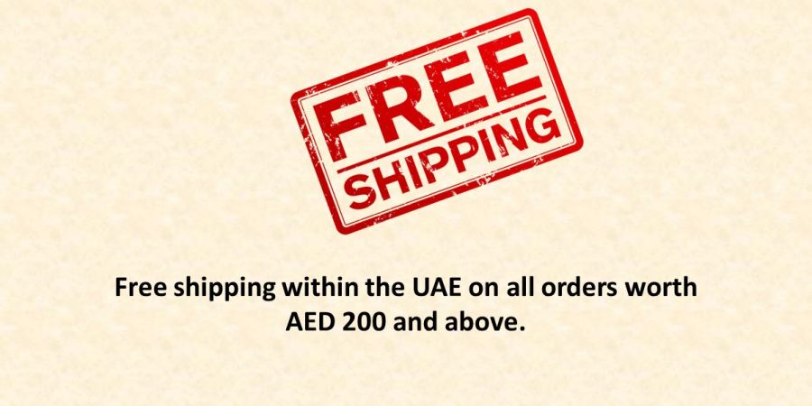 free shipping on all orders above AED 200